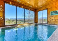 Tennessee Cabins With Pools-Large Cabin W/private Indoor Pool, Hot Tub, Theater & Shared Outdoor Pool –  Cabins For Rent In Pigeon Forge, Tennessee, United States