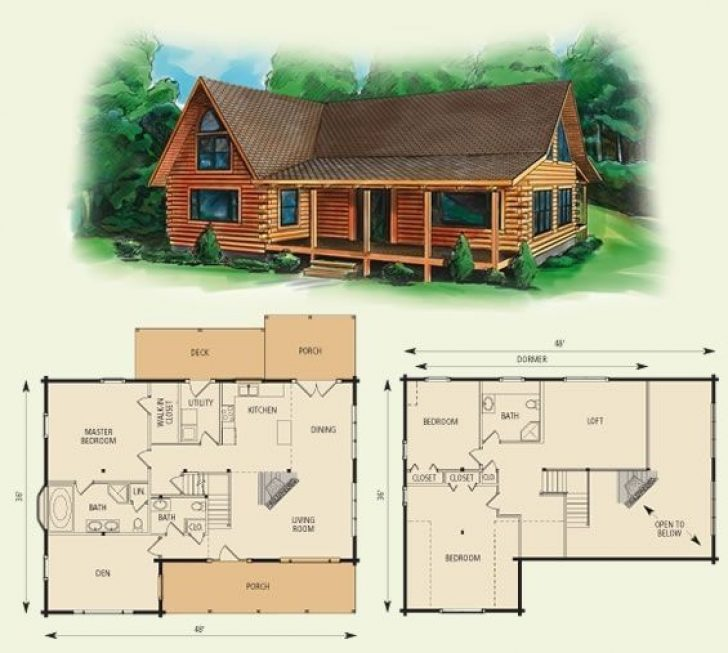 Permalink to Latest Cabin House Plans With Loft 2019