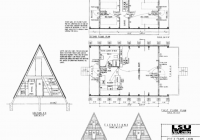 free small cabin plans A Frame Cabin With Loft Plans