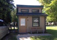 front of mini cabin picture of straits state park saint ignace Michigan State Parks With Cabins