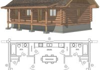 maybe widen second for bunks or add a loft space with small beds or Cabin Home Plans With Loft